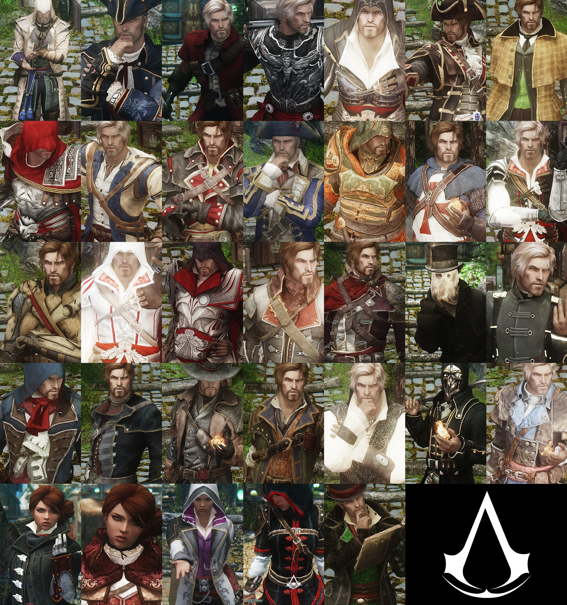 assassin's creed armor mods for skyrim